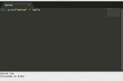 MAC下Sublime Text2 lua 配置